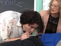 Mature teachers suck cock